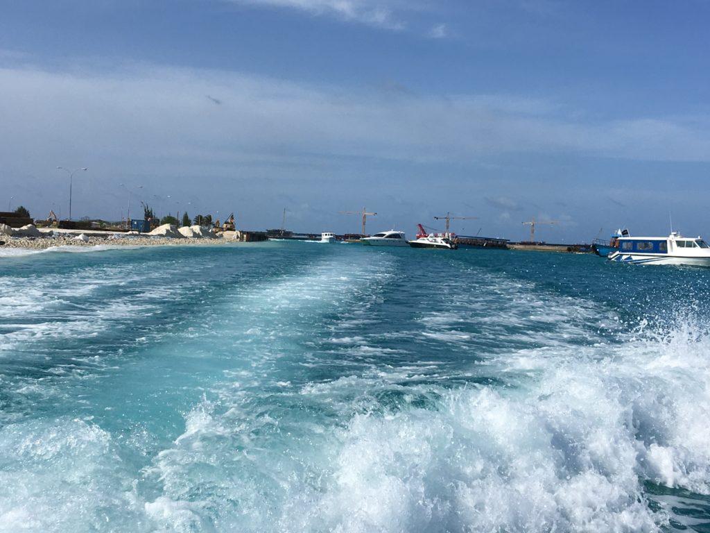maldives Maafushi airport boat